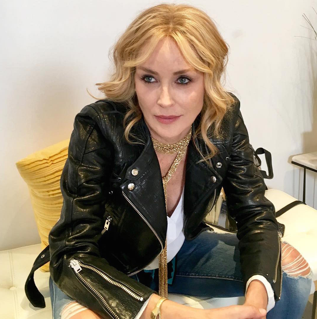 SHARON STONE NECKLACE ALL I WISH GOLD CHAINMAILLE CHAINMAIL SCARF