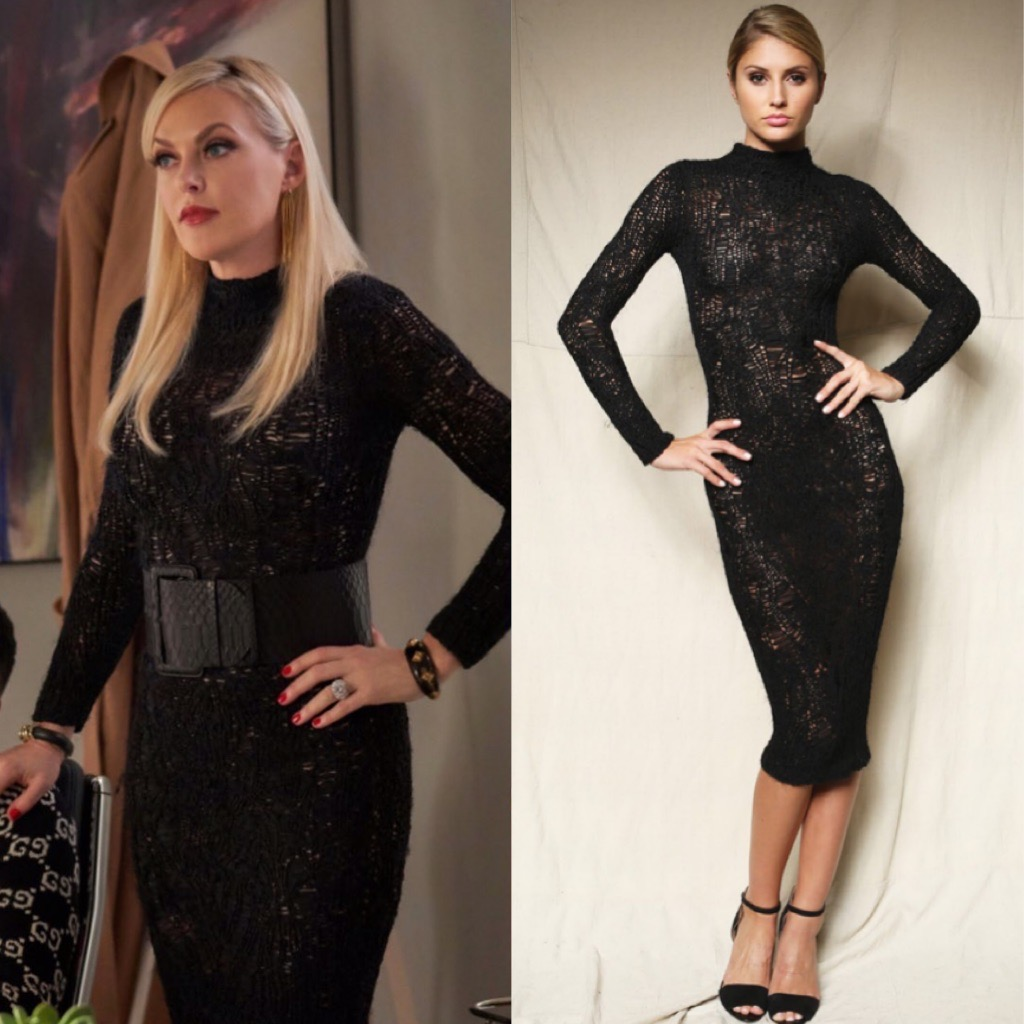 Elaine Hendrix as Alexis Carrington wears Natalia Fedner on CW's Dynasty